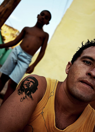 'Che' is very much alive in the cuban psyche.   Trinidad, Cuba , 2006