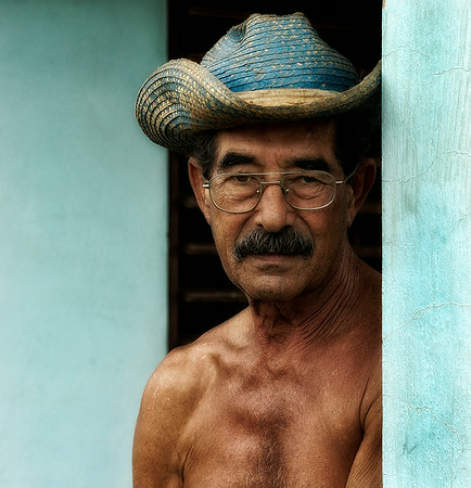 Farmer on his front porch.  vinales, Cuba , 2006