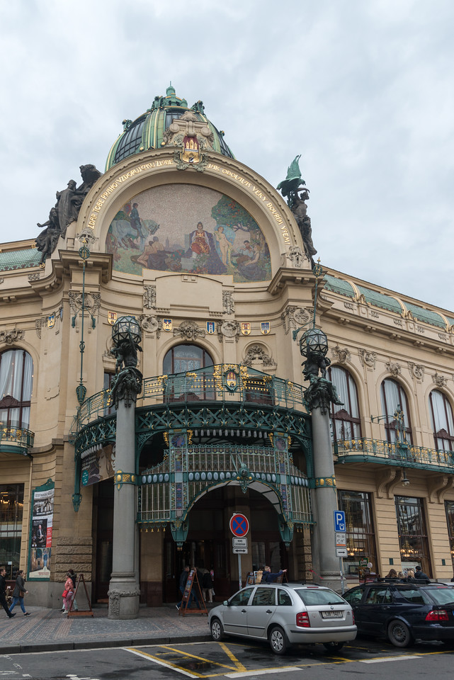 Municipal House. Art nouveau venue hosting classical concerts, opera & ballet plus events including fashion shows. Prague, Czech Republic.