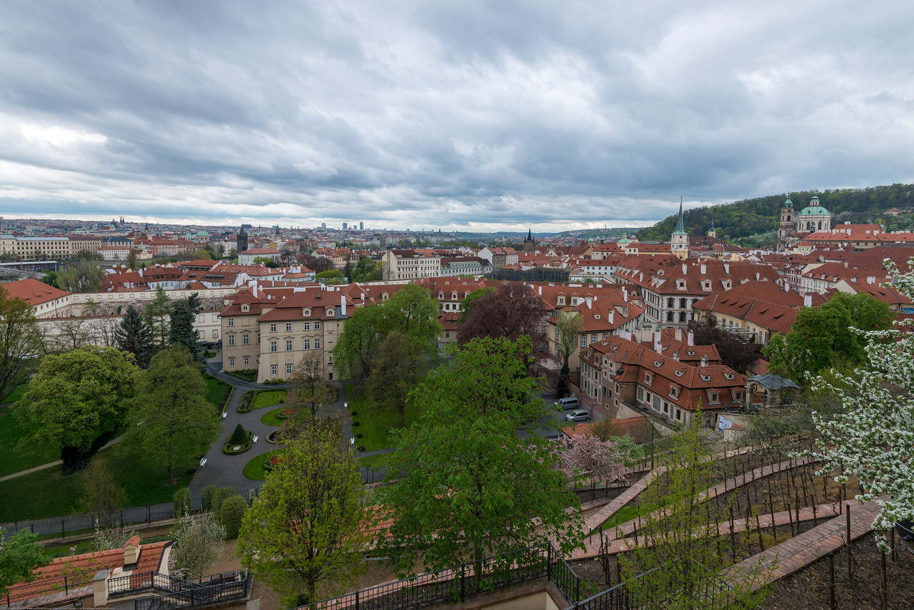 View from Prague Castle, Czech Republic.
