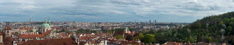 Panoramic view of Prague (Praha), capital of the Czech Republic from Prague Castle.