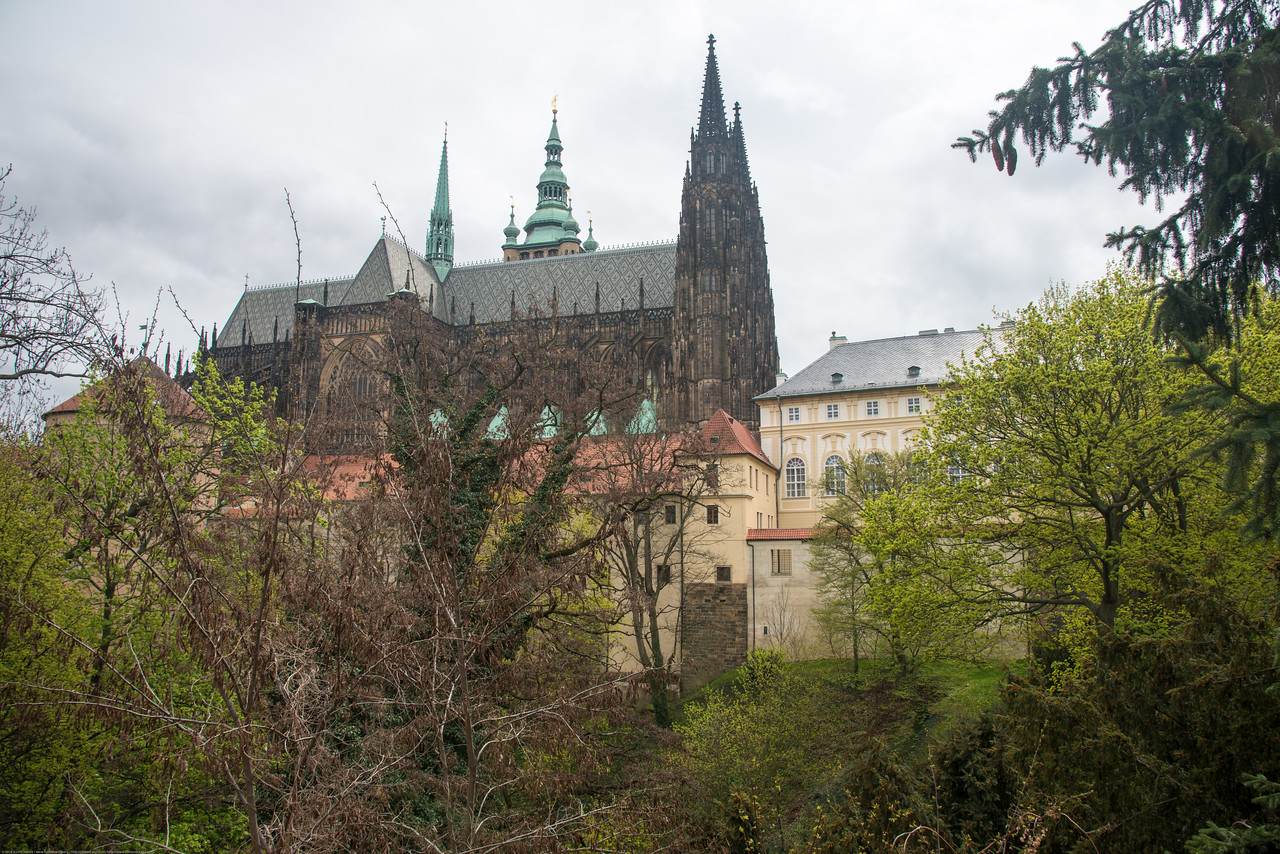 View of Prague Castle in Prague, Czech Republic.