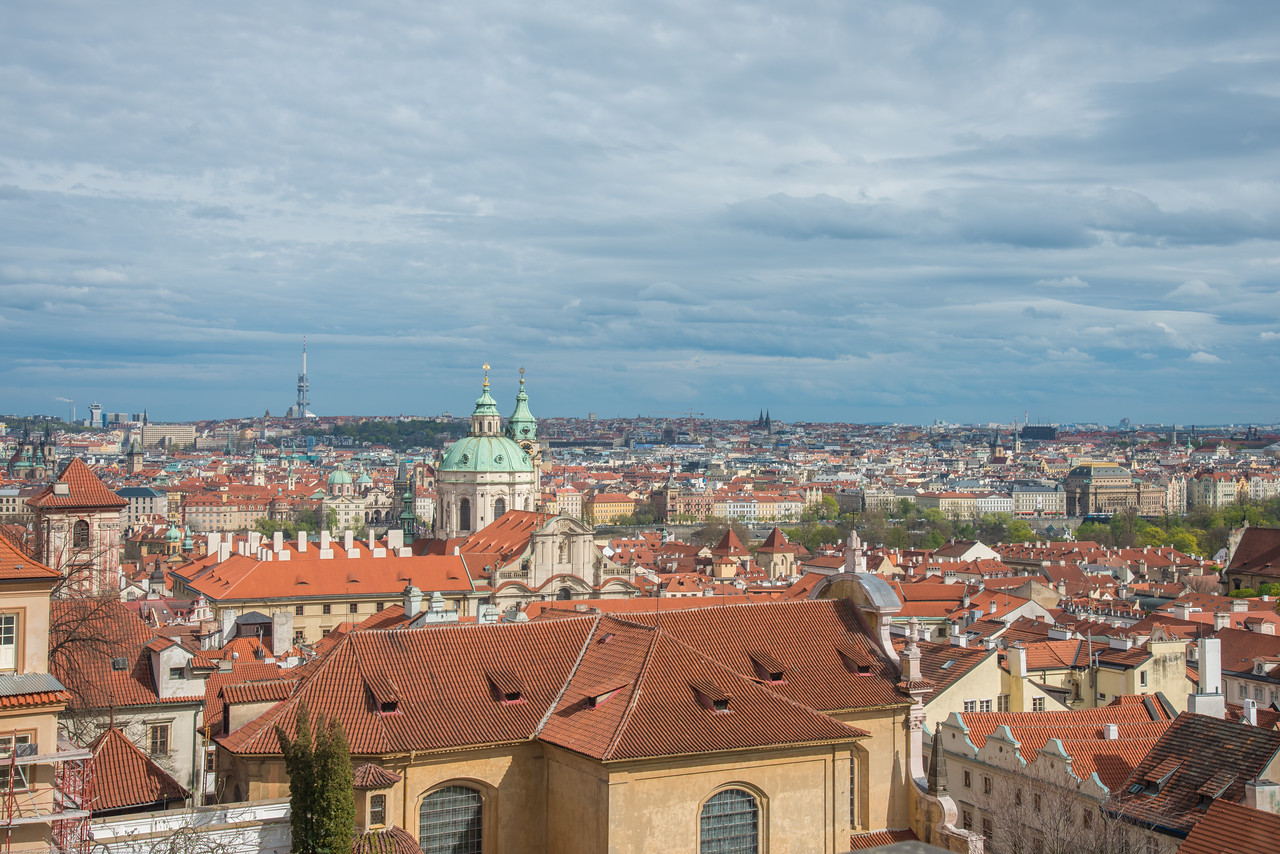 Beautiful view of old town Prague, Czech Republic from the Prague Castle.