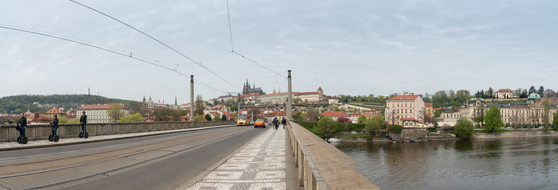 Panoramic view of Vltava, Prague (Praha), the longest river in Czech Republic.