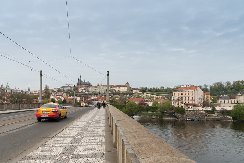 Mánesův Most (bridge) over Vltava, Prague, Czech Republic.