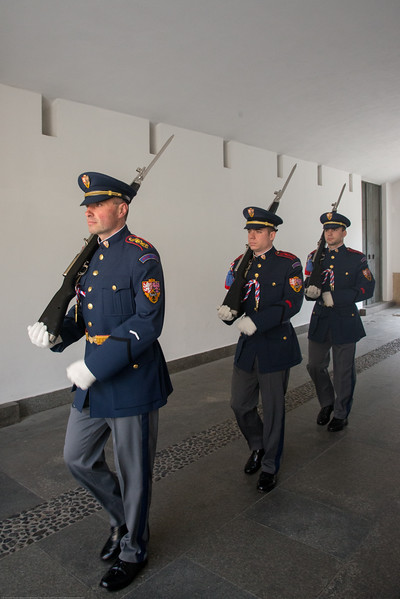 Change of Guards ceremony at Prague Castle. Prague, Czech Republic.