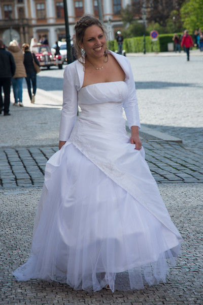 Prague Castle is a popular destination for newly weds.