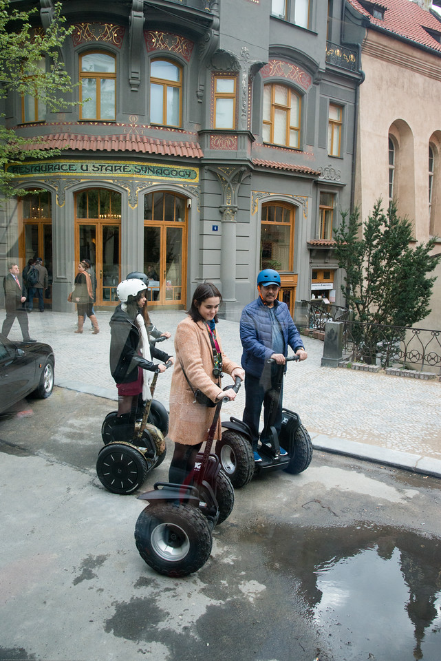Many Segway tours in Prague, Czech Republic. A good way to see the old town area.