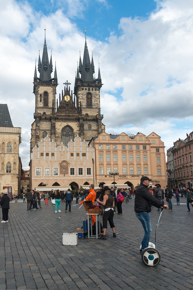 Segway tours in Prague, Czech Republic is a popular way to see the old town area.