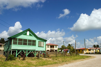 Typical home in Dangriga Town.