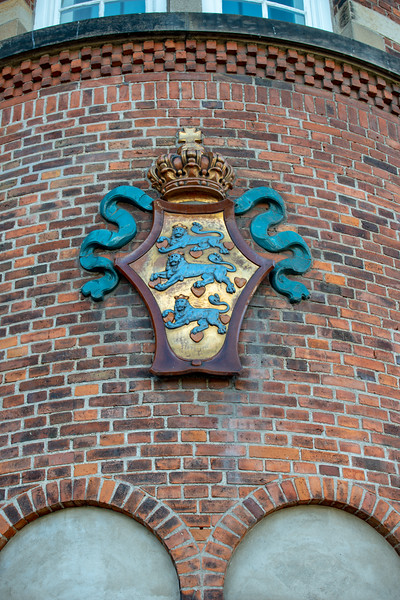 Emblem at Copenhagen Central Station. Copenhagen, København, Denmark.