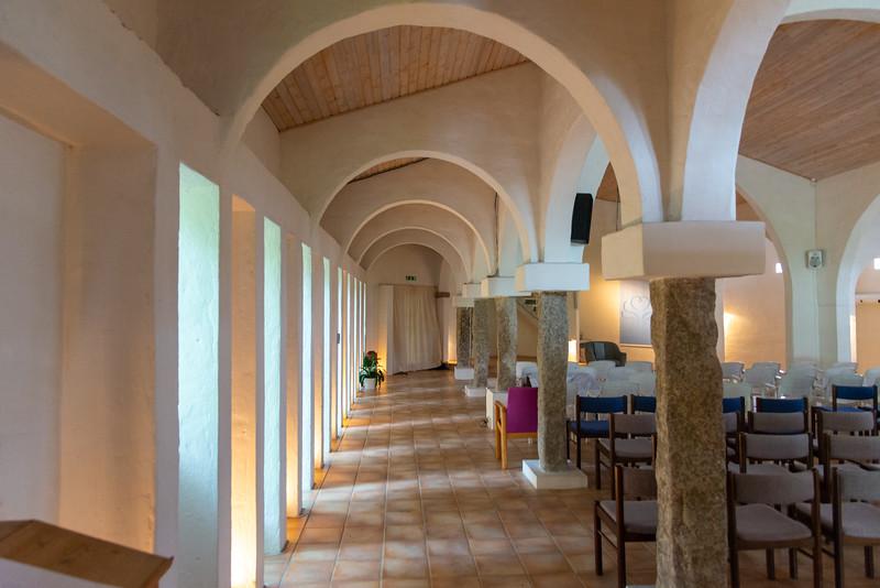 Inside the meditation hall of SRCM (Shri Ram Chandra Mission), Sahaj Marg, Vrads Sande Ashram, Vrads Sande Vej, Bryrup, Denmark.