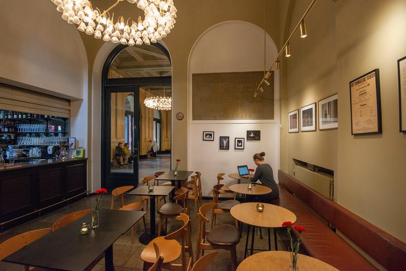 Cafe inside the Royal Danish Theatre, Det Kongelige Teater, Kongens Nytorv, København, Copenhagen, Denmark