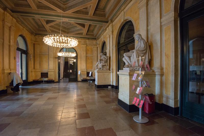 Inside the Royal Danish Theatre, Det Kongelige Teater, Kongens Nytorv, København, Copenhagen, Denmark