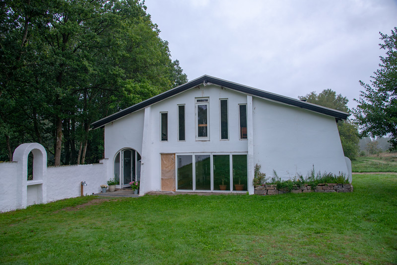 Meditation Hall for satsang at SRCM (Shri Ram Chandra Mission), Sahaj Marg, Vrads Sande Ashram, Vrads Sande Vej, Bryrup, Denmark.