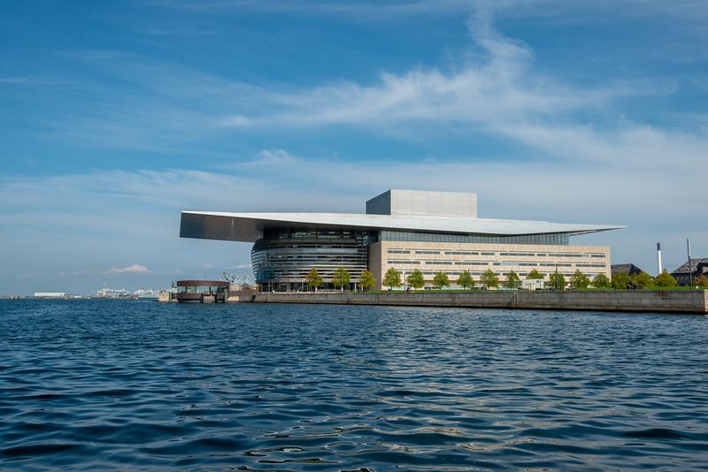 Operaen, Copenhagen Opera House on the canal tour. <br /> Copenhagen, København, Denmark.