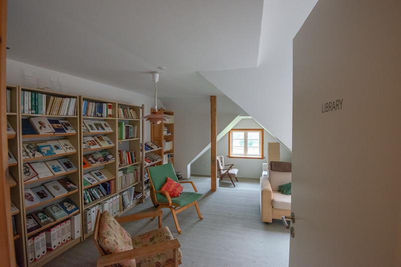 Library, SRCM (Shri Ram Chandra Mission), Sahaj Marg, Vrads Sande Ashram, Vrads Sande Vej, Bryrup, Denmark.
