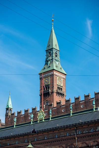 At Rådhuspladsen, City Hall Square, is a large open space outside city hall used for concerts, cultural performances & celebrations. Copenhagen, København, Denmark
