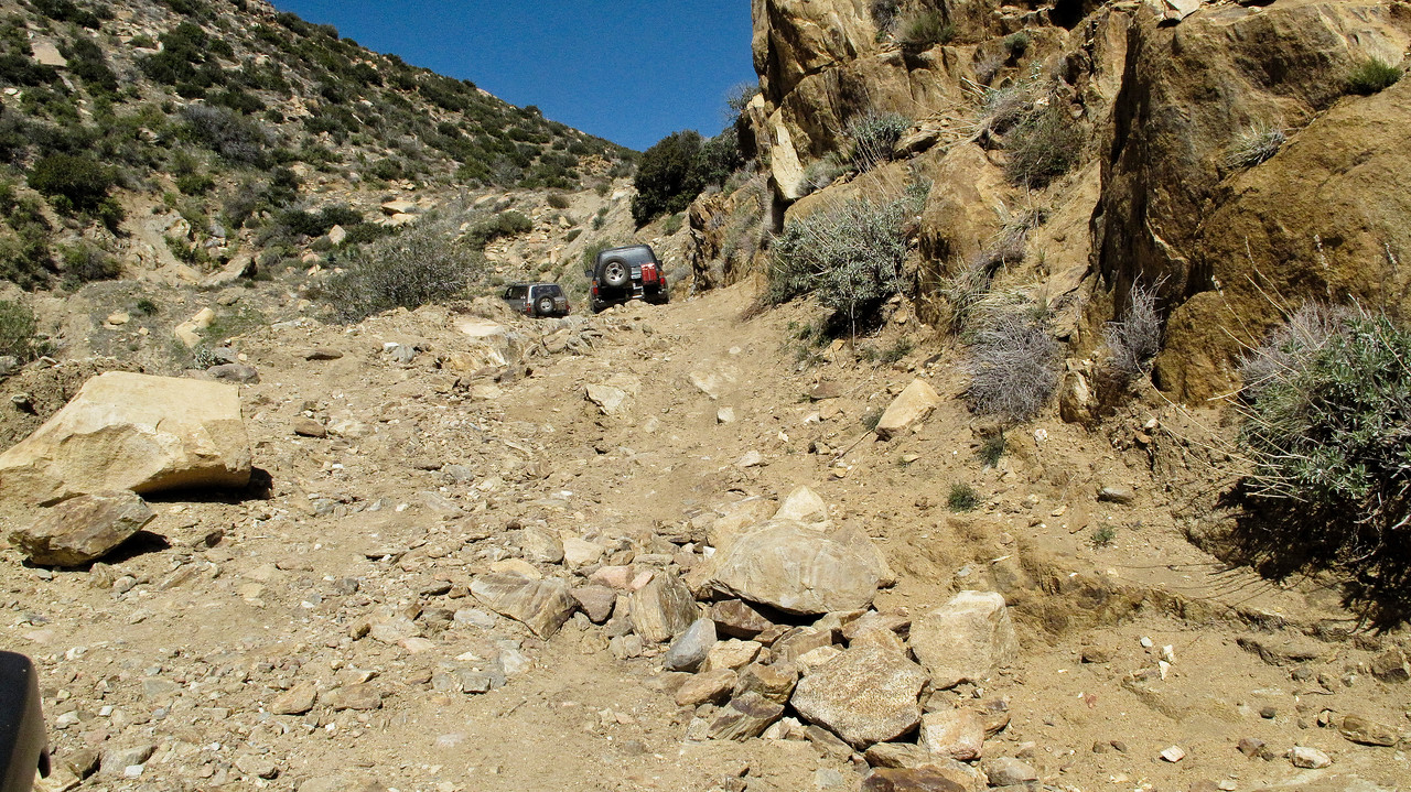 The Oriflame Canyon trail is not hard, but was certainly more fun than anticipated
