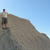 Mike taking in the view of the mud hills