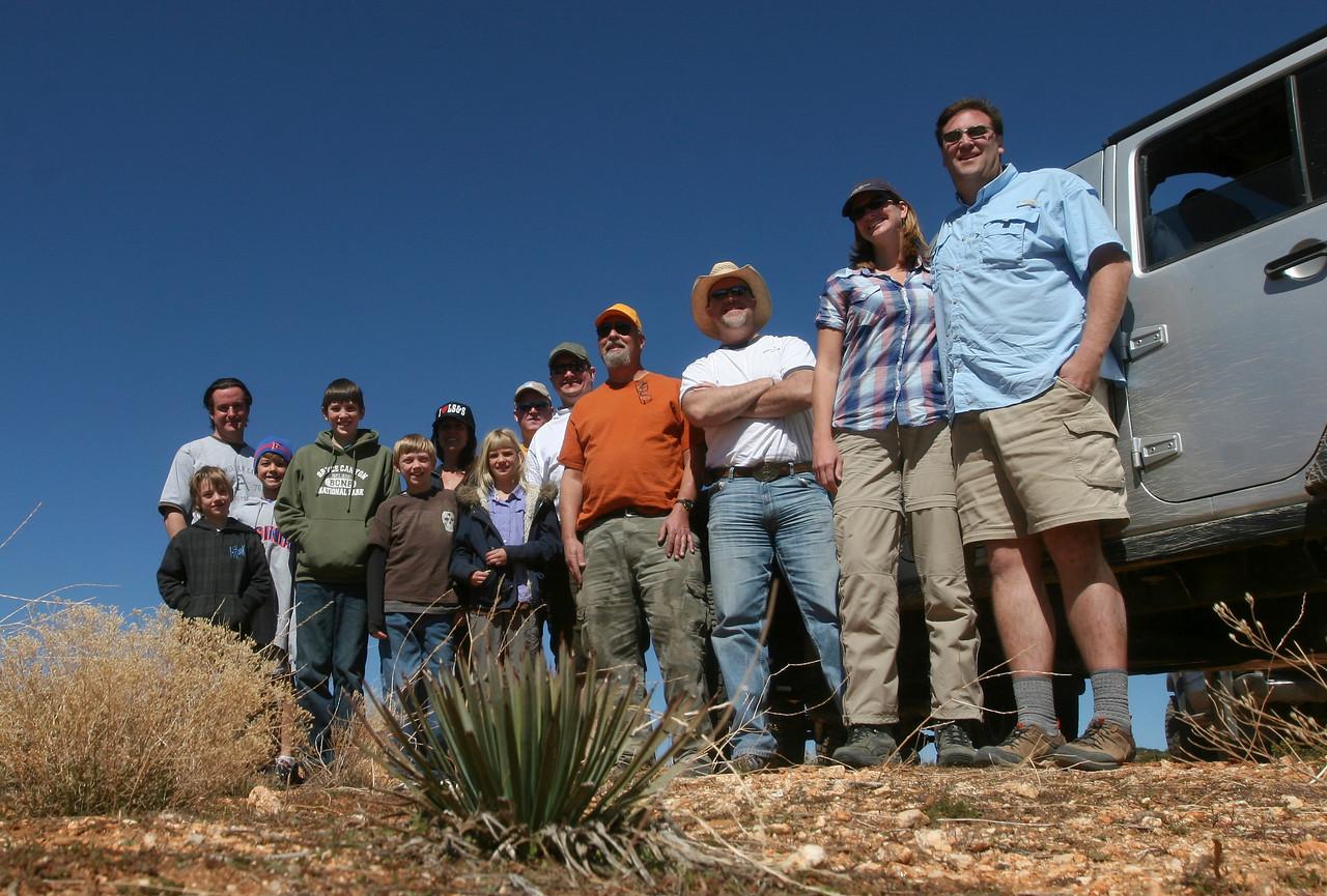 The crew atop the ridge