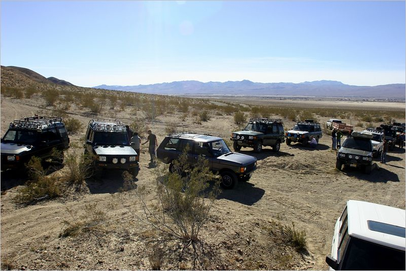 Staging area near the head of the trail - 12 Rovers in total