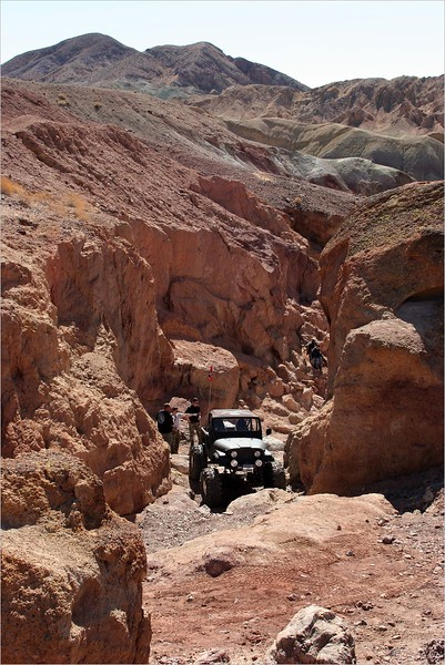 Jeep exiting the Gatekeeper