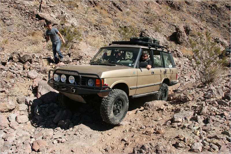 """John """"RoverDude"""" Gadd charging through the trail"""