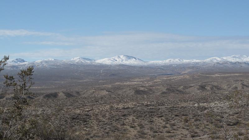 Looking northward into the El Paso mountains