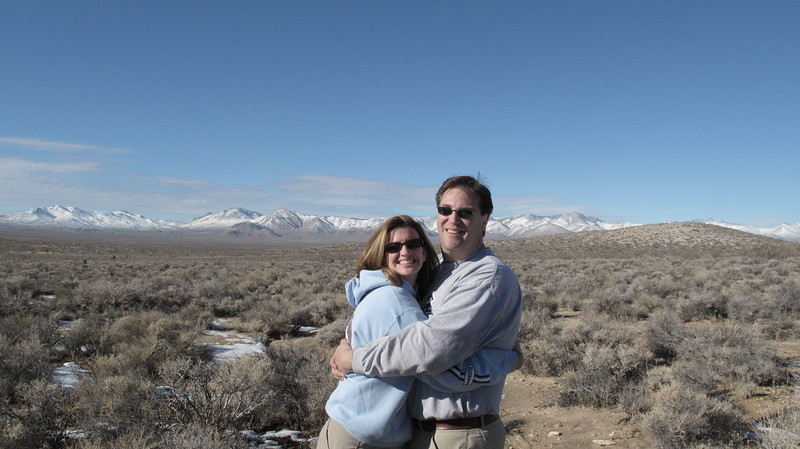 Nathan & Marni enjoying the view