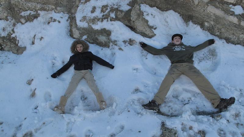 Snow Angles!