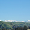 Mount Baldy as seen from the green hills of the 91 freeway.