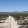 Way off in the distance, due west of the camera, is Ft. Piute, nested at the base of the hills out yonder.