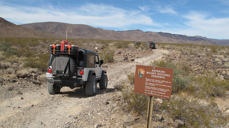 The short, rocky, spur trail to Ft. Piute
