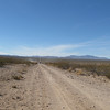 Heading west across the Mojave Desert.