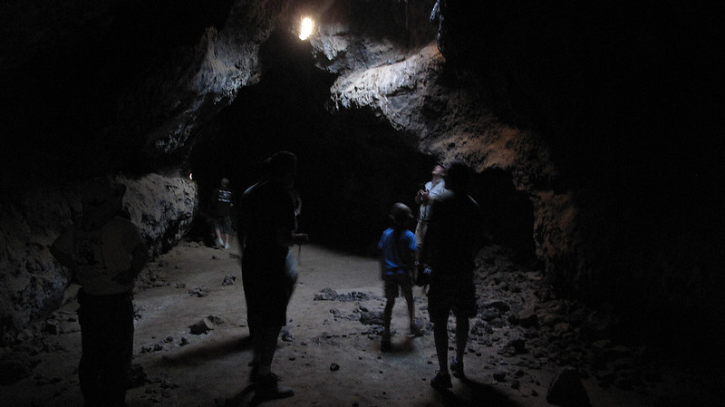 What the lava tubes look like shortly after the sun angle changes