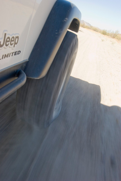 """Our new BFG KM2's did great in the sand.  35"""" tire rolling at about 10 PSI"""
