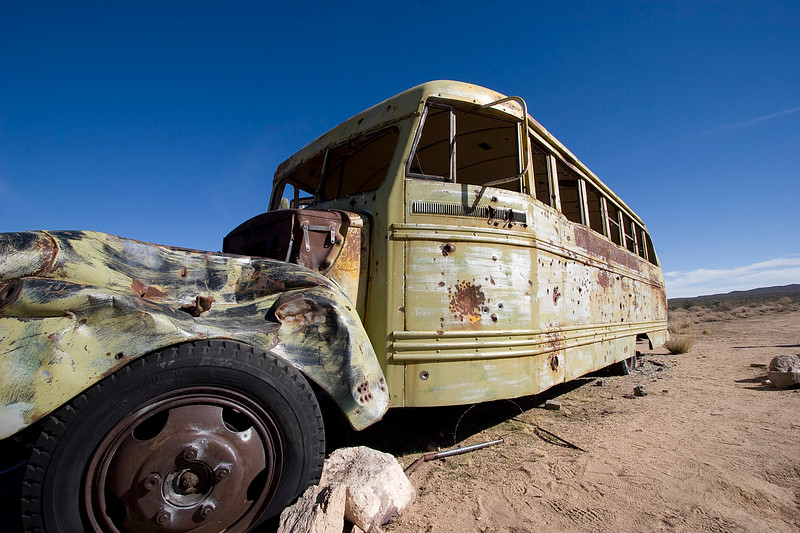 The famous Mojave School bus, right smack in the middle of nowhere