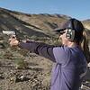 Marni shooting a 9mm Berratta 92FS