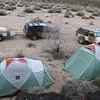Our campsite along the Lava Fields