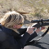 Megan getting proficient with a Marlin 795