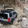 Goktug's well equipped LR3 navigates the rocks with ease.