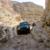 Tawfik navigates the second pinch-rock