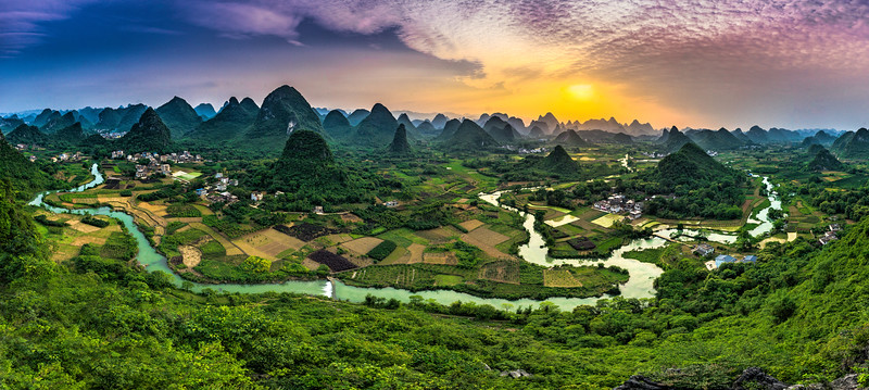 Wuzhi Hill Sunset