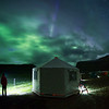 Aurora over base camp, Torngat Mountains
