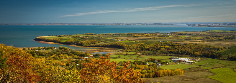 North Medford and the Minas Basin from the Look-Off, Annapolis Valley, Nova Scotia.