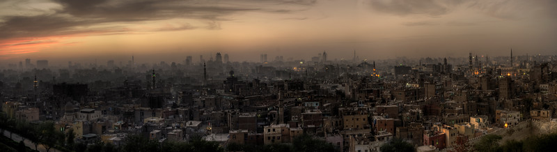 View of Cairo as seen from the Al-Azhar park,   Cairo, Egypt 2010.