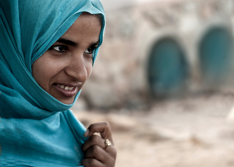 Local girl in the town of Dahab.<br /> <br /> Sinai peninsula, Egypt, 2010.