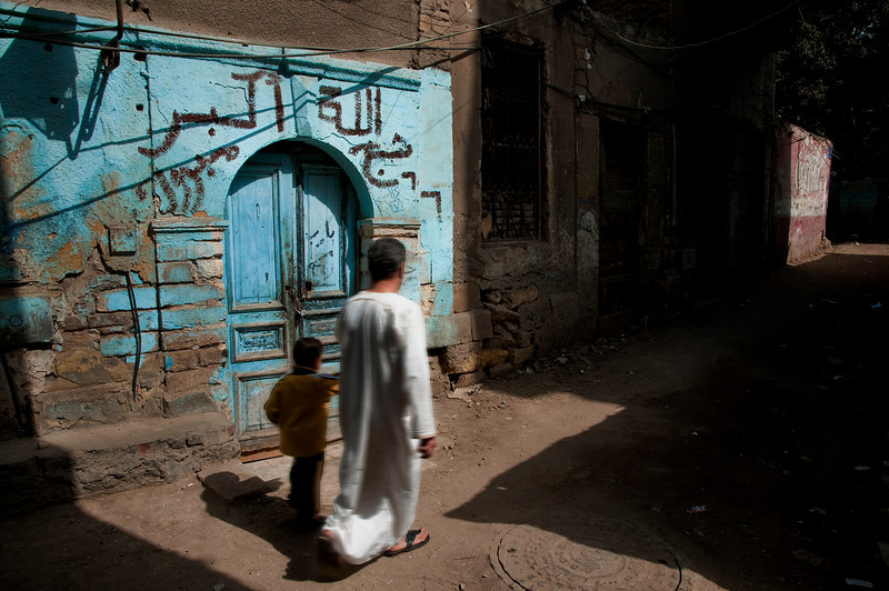 Street scene near the old Christian quarters of Coptic Cairo. <br /> <br /> Cairo, Egypt, 2010.