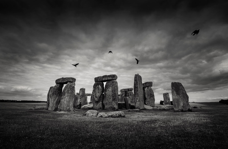 For centuries, historians and archaeologists have puzzled over the many mysteries of Stonehenge, the prehistoric monument that took Neolithic builders an estimated 1,500 years to erect. Located in southern England, it is comprised of roughly 100 massive upright stones placed in a circular layout. Whi1e many modern scholars now agree that Stonehenge was once a burial ground, they have yet to determine what other purposes it served and how a civilization without modern technology—or even the wheel—produced the mighty monument. Its construction is all the more baffling because, while the sandstone slabs of its outer ring hail from local quarries, scientists have traced the bluestones that make up its inner ring all the way to the Preseli Hills in Wales, some 200 miles from where Stonehenge sits on Salisbury Plain.   Stonehenge, England, 2018